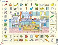 Learning English Puzzle - Lernpuzzle