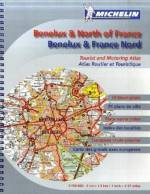 Michelin Straßenatlas: Benelux & Nord-Frankreich 1:150.000 Place name index, European route planner