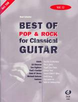 Best of Pop & Rock for Classical Guitar Vol. 12 Inkl. TAB