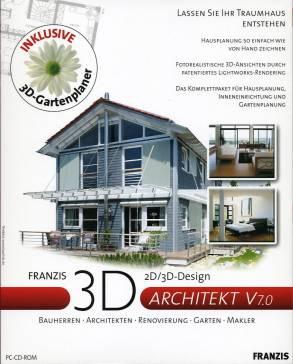 Franzis 3d architekt v 7 0 2d 3d design bauherren for Architekt 3d gartenplaner