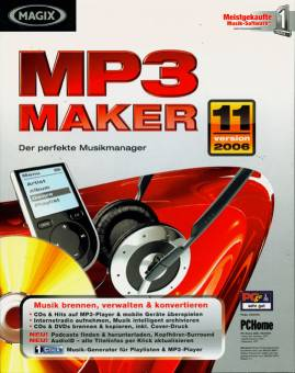 magix mp3 maker 11 der perfekte musikmanager musik brennen verwalten konvertieren cds. Black Bedroom Furniture Sets. Home Design Ideas