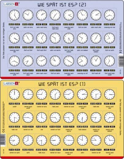Uhrzeiten auf englisch