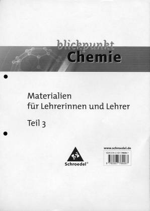 Blickpunkt Chemie Materialien Für Lehrerinnen Und Lehrer
