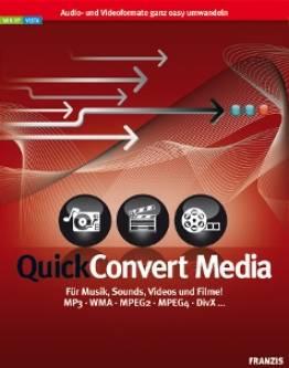quick convert media f r musik sounds videos und filme mp3 wma mpeg2 mpeg4 divx. Black Bedroom Furniture Sets. Home Design Ideas