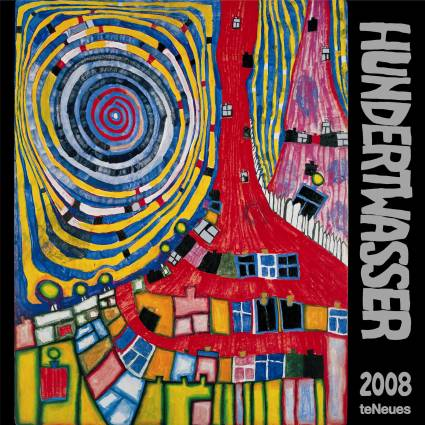 hundertwasser 2008 kalender. Black Bedroom Furniture Sets. Home Design Ideas